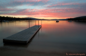 A beautiful sunset from the best beach on Newfound Lake
